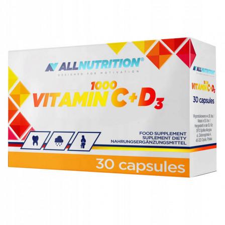 Allnutrition Vitamin C 1000 + D3 30 caps.