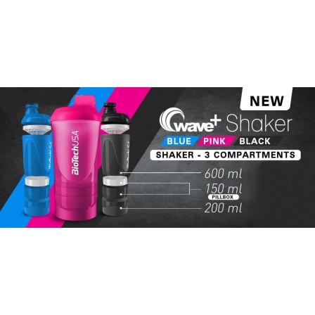 BioTech USA Shaker Smart Wave + Pillbox 600 ml.