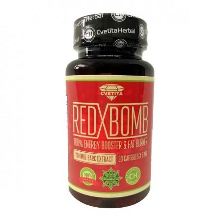 Cvetita Herbal Red X Bomb 30 caps. - Йохимбе екстракт