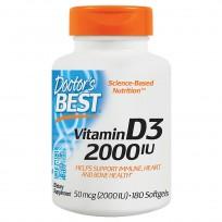 Doctor's Best Vitamin D3 2000 IU 180 Softgels