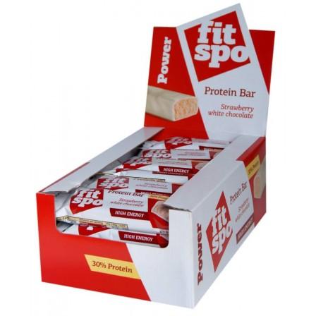 Fit Spo Power Protein Bar Ягода с бял шоколад 1 бр. /55 gr./