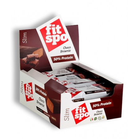 Fit Spo Slim Bar Шоколадово брауни 1 кутия /12 бр./
