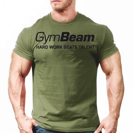 Gym Beam T-shirt Hard Work Military