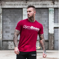 Gym Beam T-Shirt Body and Mind Cardinal Red