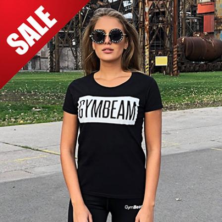 Gym Beam T-Shirt Box Logo Black White