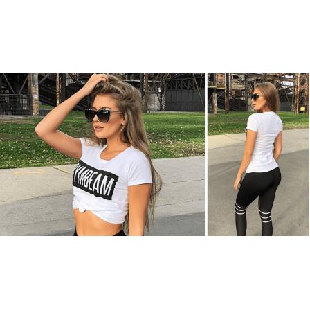 Gym Beam T-Shirt Box Logo White Black