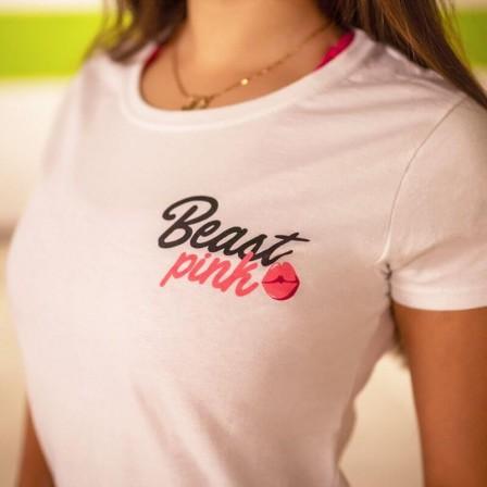 Gym Beam Women's T-shirt Beastpink White