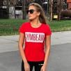 Gym Beam T-Shirt Box Logo Red White