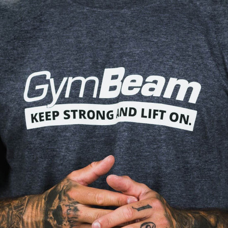Gym Beam T-shirt Keep Strong Dark Heather