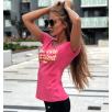 Gym Beam T-Shirt Hard Work Pink Yellow