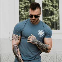 Gym Beam T-shirt The Best Version Indigo