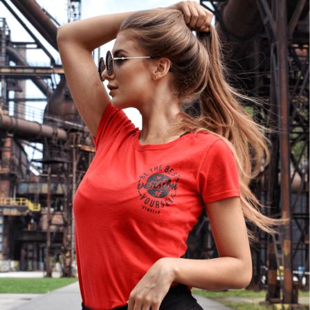 Gym Beam T-Shirt The Best Version Red Black