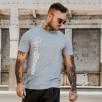 Gym Beam T-Shirt Vertical Grey White