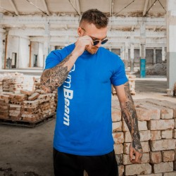 Gym Beam T-Shirt Vertical Blue