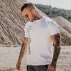 Gym Beam T-Shirt Vertical White