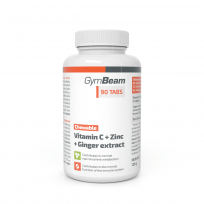 Gym Beam Vitamin C + Zinc + Ginger extract Chewable 90 tabs.