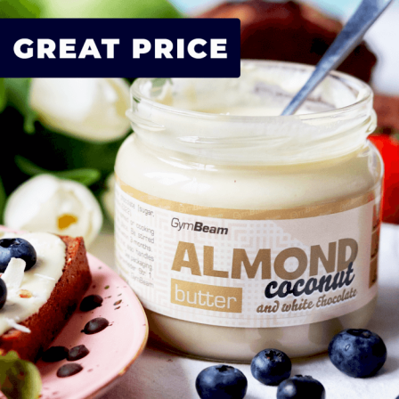 Gym Beam Almond Butter with Coconut and White Chocolate 340 gr. / Бадемово масло с кокос и бял шоколад