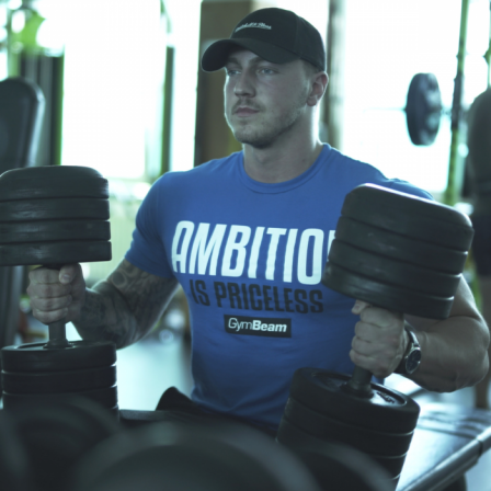 Gym Beam T-shirt Ambition Is Priceless