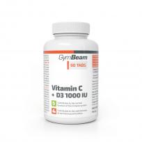 Gym Beam Vitamin C + D3 1000 IU 90 tabs.