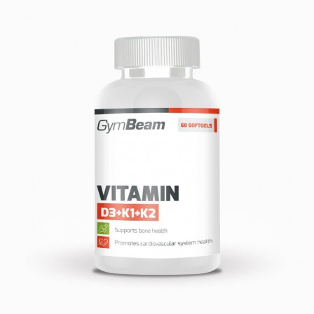 Gym Beam Vitamin D3+K1+K2 60 caps.
