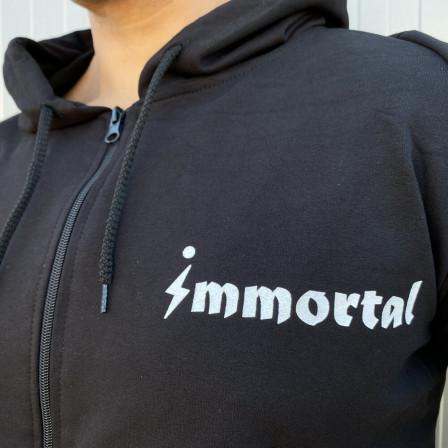 Immortal Zipper Hoodie Dark Grey - Спортно горнище