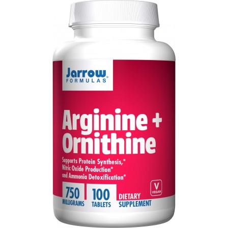 Jarrow Formulas Arginine + Ornithine 750 mg 100 tabs.