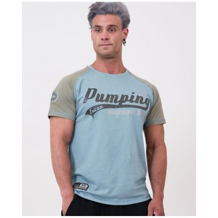 Legal Power T-shirt PUMPING ERCAN 9700-869 Taupe Grey/Stone Blue