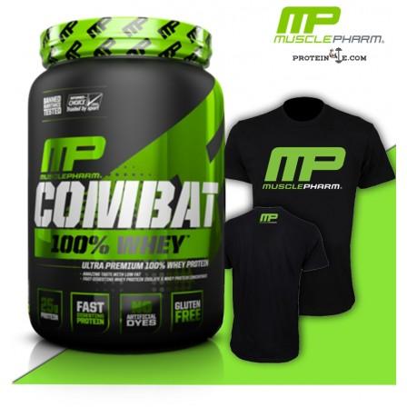 MusclePharm Combat Powder+T-shirt/протеинова матрица+тениска