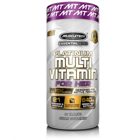 MuscleTech Platinum Multivitamin For Her 90 tabs.