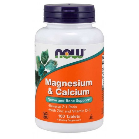 NOW Foods Magnesium & Calcium With Zinc and Vitamin D3 100 tabs.
