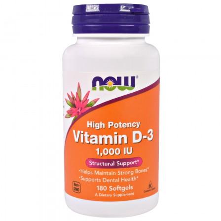 NOW Foods Vitamin D 3 1000 IU 180 caps.