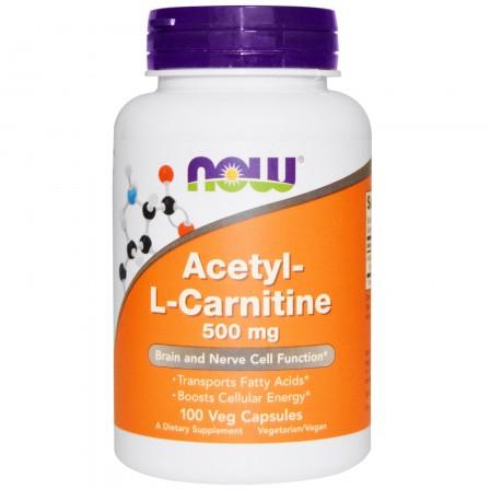 NOW Foods Acetyl L-Carnitine 500mg 100 veg caps.
