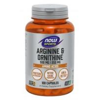 NOW Foods Arginine & Ornithine 500/250 mg. 100 caps.