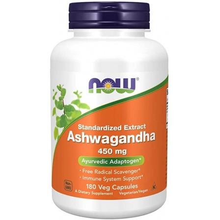NOW Foods Ashwagandha Extract 450 mg 180 veg caps.