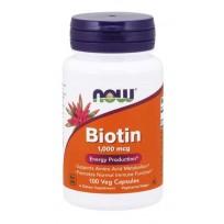 NOW Foods Biotin 1 mg (1000 mcg) 100 veg  caps.