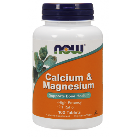 NOW Foods Calcium and Magnesium 100 tabs.