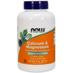 NOW Foods Calcium & Magnesium Citrate Powder with Vitamin D3 227 gr.
