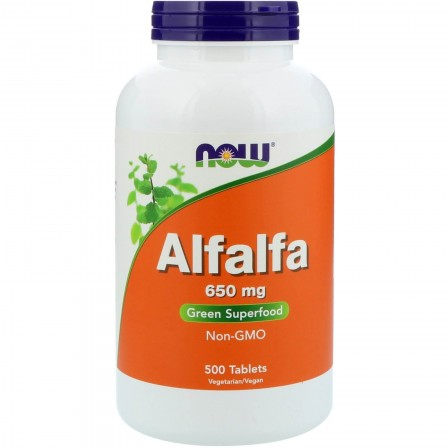 NOW Foods Alfalfa 650 mg 500 tabs.