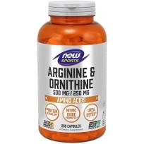 NOW Foods Arginine & Ornithine 500/250 mg. 250 caps.