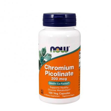 NOW Foods Chromium Picolinate 200 mcg 100 veg caps.
