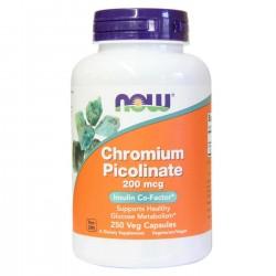 NOW Foods Chromium Picolinate 200 mcg 250 veg caps.