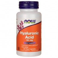 NOW Foods Hyaluronic Acid with MSM 50 mg 60 veg caps.