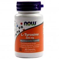 NOW Foods L-Tyrosine 500mg 60 caps.