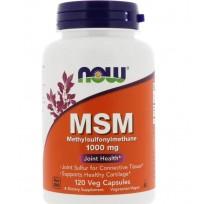 NOW Foods MSM Methylsulfonylmethane 1000mg 120 Veg Capsules