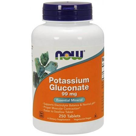 NOW Foods Potassium Gluconate 99mg 250 tab.