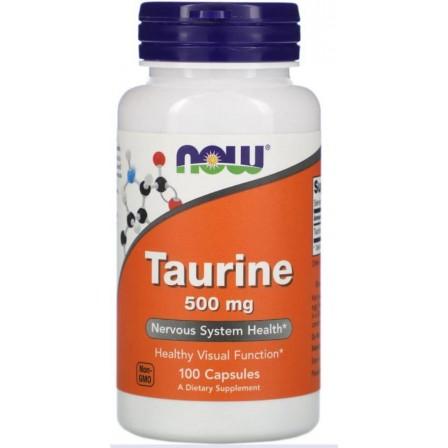 NOW Foods Taurine 500mg 100 caps.