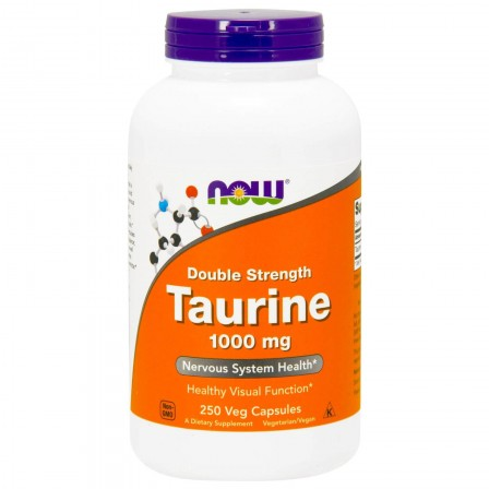 NOW Foods Taurine Double Strength 1000mg 250 veg caps.