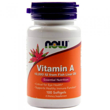 NOW Foods Vitamin A 10 000 IU 100 softgels