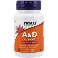 NOW Foods Vitamin A & D 10000/400 IU 100 softgels