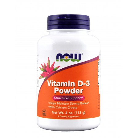 Now Foods Vitamin D-3 Powder with Calcium Citrate 113 gr.